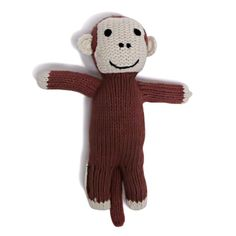 Crafted from soft organic cotton, this monkey toy rattle is a cheerful and engaging infant toy that's full of character. A entertaining addition to any baby shower gifts, this monkey comes with a frie Baby Gift Sets, Baby Gifts, Unique Kids Toys, Organic Baby Toys, Best Baby Toys, Traditional Toys, Nursery Accessories, Activity Toys, Handmade Baby