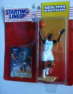 Nba Action Figures, Larry Johnson, Charlotte Hornets, Lineup, Superstar, Basketball, Baseball Cards, History, Ebay