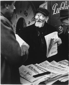 by Brassaï Newspaper seller, Denfert-Rochereau, Paris, 1947