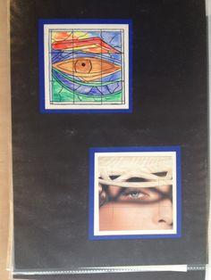 4B waarnemend tekenen oog en afgeleide creaversie oog
