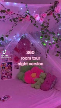 Indie Room Decor, Cute Bedroom Decor, Room Design Bedroom, Room Ideas Bedroom, Bedroom Inspo, Chambre Indie, Pinterest Room Decor, Otaku Room, Neon Room