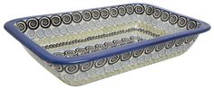 """8.25"""" x 13.5"""" Rectangular Baker (Hypnotic Whirlpool) from The Polish Pottery Outlet"""
