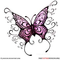 60 Awesome free butterfly tattoo designs + the meaning of butterfly tattoos. Designs include: feminine, tribal and lower back butterfly tattoos. Future Tattoos, Love Tattoos, Beautiful Tattoos, Body Art Tattoos, New Tattoos, Girl Tattoos, Awesome Tattoos, Tribal Butterfly Tattoo, Butterfly Tattoo Designs