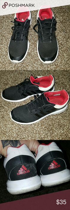 woman's adidas black red and white adidas. VERY COMFORTABLE ADIDAS ORTHOLITES adidas Shoes Athletic Shoes