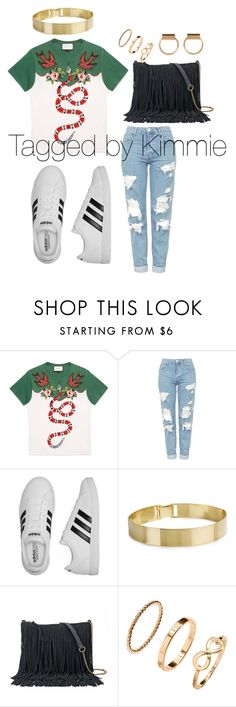 """""""Untitled #394"""" by taggedbykimmie15 on Polyvore featuring Gucci, Topshop, adidas and SONOMA Goods for Life"""