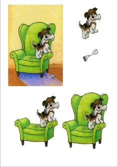 3d decoupage photo: easy decoupage simpledog.jpg