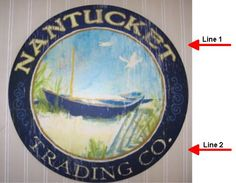 Nantucket Art - Can be customized!