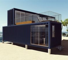 3 Prefabricated/Prefab Modular Movable Container House on The Beach., Find Details about Container House, Prefab House from 3 Prefabricated/Prefab Modular Movable Container House on The Beach. - Jiangxi HK Prefab Building Co. Container Home Designs, Shipping Container Design, Storage Container Homes, Shipping Containers, 40ft Container, Container Pool, Building A Container Home, Container Buildings, Container Architecture