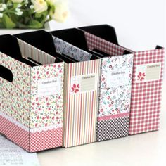 Fashion Floral Garden Style Small Storage Box Desktop Box Organizers DIY Assembly Japanese and Korean Style Free Shipping #Affiliate
