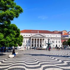 Tiles of Rossio Square, Lisbon Sights in Portugal