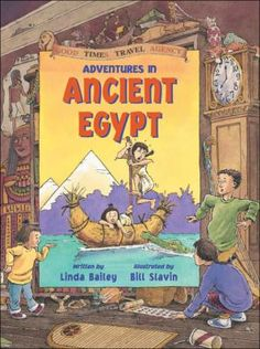 """Adventures in Ancient Egypt - Linda Bailey. This is part of a series (Ancient Greece, Ancient China, Vikings) - all of them are worth checking out. A story, a """"comic book"""", and a history lesson all in one."""
