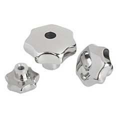 Bouton étoile en Inox, similaire à DIN 6336 // Star grips stainless steel, similar to DIN 6336 // REF 06194