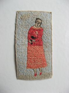 She is truly the queen of stitch art... love her work...    by Cathy Cullis