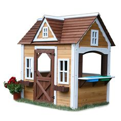 Swing-N-Slide Wood Playhouse Kit - 6 feet wide x 4 feet deep x 6 feet tall - no floor - $482