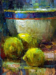 Julie Ford Oliver. Goregeous color and texture in this still life.