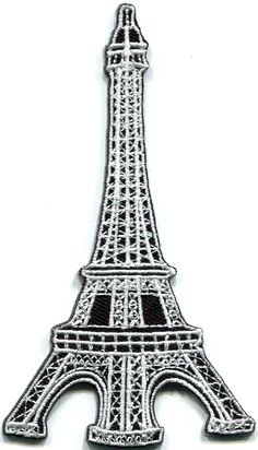 Pretty Pink /& Silver Eiffel Tower Appliqué Embroidered Sew//Iron on Patch Paris❤️