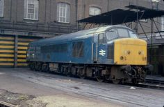 On April 46047 stands outside Stratford DRS awaiting attention. 46047 would remain in service until September after a career of almost 22 years. Electric Locomotive, Diesel Locomotive, Derby, British Rail, Buses, Airplane, Trains, Career, September