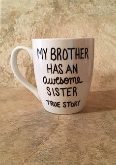 diy birthday gifts for brother ****If you would like to change the wording from brother to sister please leave this information in the notes to seller section at checkout**** Christmas Gifts For Brother, Birthday Gifts For Brother, Diy Christmas Presents, Sister Gifts, Diy Birthday, Christmas Diy, Christmas Coffee, Diy Presents, Birthday Ideas