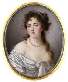 Henry Bone. Miniature Portrait of Emma, Lady Hamilton, early 19th Century.