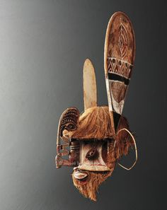 Square-Faced Mask, Melanesia, Papua New Guinea, Bismarck Archipelago, New Ireland, Region of the Lavongai Mission, Lavongai Island (New Hanover)