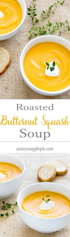 Roasted Butternut Squash Soup- only 186 calories for this creamy, fall recipe. No cream added! -Enjoy it as a warming meal with a side salad.
