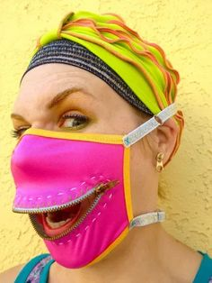 Your place to buy and sell all things handmade Mouth Mask Fashion, Fashion Face Mask, Diy Mask, Diy Face Mask, Sewing Hacks, Sewing Projects, Nose Mask, Funny Face Mask, Masks Art