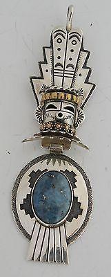 Vtg Huge 3D Kachina Native American Navajo Sterling Gold Pendant Tommy Singer | eBay