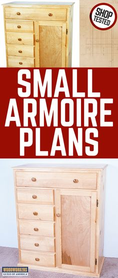 Just the right size for a child's room, this handsome woodworking project adds valuable storage space wherever it's used. Six roomy drawers are complemented by a big storage cabinet that can also be used as a wardrobe for hanging clothes.