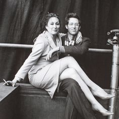 Anjelica Huston and Wes Anderson