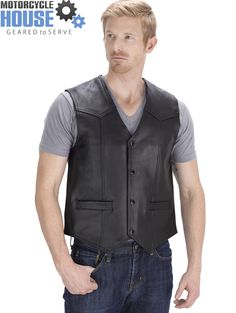 VikingCycle Raider Motorcycle Vest for Men - available only at http://www.motorcyclehouse.com/vikingcycle-raider-motorcycle-vest-for-men-22101-prd1.htm - uploaded by #MotorcycleHouse