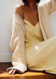 Knitting Kit Pima Cotton Coconut Cardigan 1