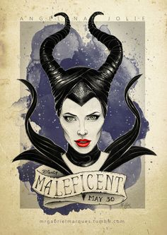 Maleficent movie poster art.....Omg I love Angelina Jolie can't wait to see this.