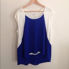 American Eagle:  royal blue blouse Fun color that still can play with to add a hint of coral even neon. Brand new with tag‼️  Perfect for gift ideas  ❌NO trades ❌NO PayPal  Bundle to get discount Please use OFFER option American Eagle Outfitters Tops Blouses