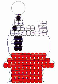 Snoopy from Peanuts on his Dog-House pony beads pattern