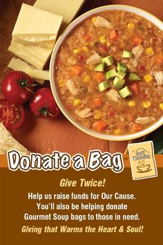 Or Share this Pin with Friends & Family to Raise money for your Cause and provide soup for someone in need! Raise Funds, How To Raise Money, Chana Masala, Friends Family, Fundraising, Soup, Ethnic Recipes, Gourmet, Soups