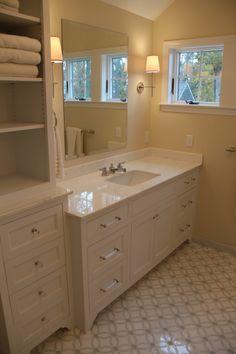 a beautiful #bathroom #design using #allstone Dynasty White #marble