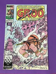 Marvel GROO The WANDERER 1986 Series #19 Comics Book EPIC Sept. Sergio Aragone's