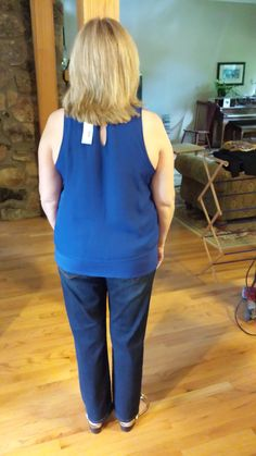 Stitch Fix #1 review & giveaway - Loved this color but the arm holes just showed way too much.