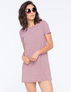 SOCIALITE Mini Stripe Womens T-Shirt Dress 253488957 | Short Dresses