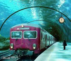 Venice,  underwater train station
