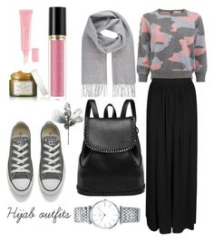 """#Hijab #Casual"" by mennah-ibrahim on Polyvore featuring Boohoo, Vivienne Westwood, Converse, Revlon, Fresh, Christian Dior and Longines"