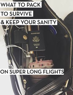 HOW I SURVIVE LONG FLIGHTS: what to pack, and what to do, to keep your sanity!!!