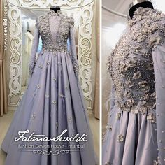 Muslimah Wedding Dress, Hijab Wedding Dresses, Bridal Gowns, Indian Gowns Dresses, Royal Dresses, Gaun Dress, Hijab Abaya, Hijab Dress Party, Hijab Style