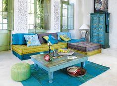 Verde esmeralda y azul turquesa. Me encantan esos colores!