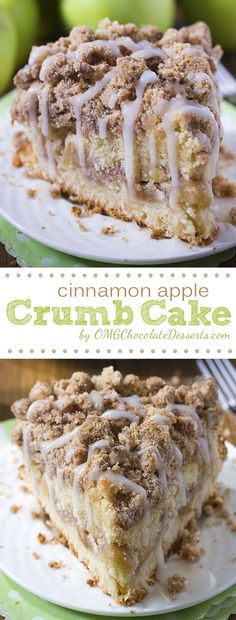Cinnamon Apple Crumb Cake Are you ready for fall baking? Cinnamon Apple Crumb Cake is the perfect dessert for crisp weather coming up. - Are you ready for fall baking? Cinnamon Apple Crumb Cake is the perfect dessert for crisp weather coming up. Best Cake Recipes, Fall Recipes, Sweet Recipes, Recipes Dinner, Recipes For Apples, Bread Recipes, Brownie Recipes, Cooking With Apples, Quick Desert Recipes