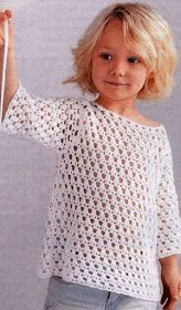 Gilet pattern by Phildar Design Team Crochet Dress Girl, Crochet Girls, Crochet Jacket, Crochet Cardigan, Crochet For Kids, Crochet Baby Sweaters, Crochet Baby Clothes, Baby Boy Knitting Patterns, Knitting For Kids