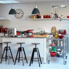 Virlova Interiorismo: [Decotips] Cómo usar ladrillo tipo 'metro' en cocinas y baños