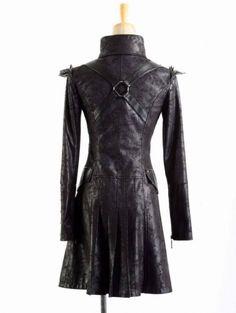 Quirky Gothic Steampunk Black Asymmetric Riding Jacket//Coat 14 New Arty Boho