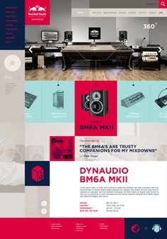 Red Bull Studios website