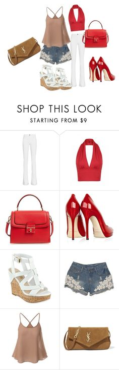 """""""Untitled #116"""" by swag345 ❤ liked on Polyvore featuring Frame, Dolce&Gabbana, Jimmy Choo, GUESS and Yves Saint Laurent"""